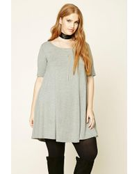 Forever 21 | Gray Plus Size T-shirt Dress | Lyst