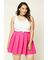 Forever 21 | Pink Plus Size Pleated Skirt | Lyst