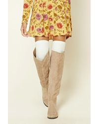 Forever 21 | Natural Geo Pattern Over-the-knee Socks | Lyst