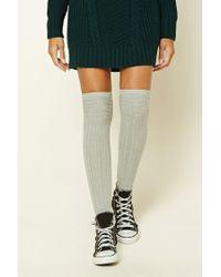 Forever 21 | Gray Geo Pattern Over-the-knee Socks | Lyst