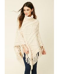 Forever 21 | Natural Turtleneck Sweater Poncho | Lyst