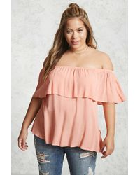 Forever 21   Pink Plus Size Off-the-shoulder Top   Lyst