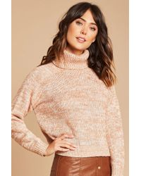 Forever 21 | Natural Contemporary Turtleneck Sweater | Lyst