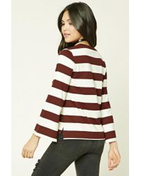 Forever 21 | Multicolor Striped Boxy Top | Lyst