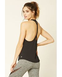 Forever 21 | Black Active Braided T-back Tank | Lyst