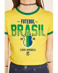 Forever 21 - Multicolor Brasil Graphic Tee - Lyst