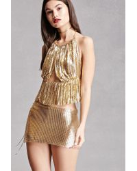 c7c3b82007 Forever 21 Chainmail Mini Skirt in Metallic - Lyst
