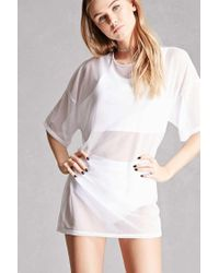 Forever 21 | White Private Academy Mesh Twofer Top | Lyst