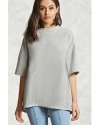 Forever 21 | Gray Boxy Dropped-sleeve Top | Lyst