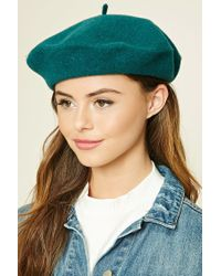 Forever 21   Green Wool Beret   Lyst