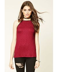 Forever 21 | Red Burnout Longline Cami | Lyst