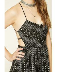 Forever 21 - Black Southwestern Print Maxi Dress - Lyst