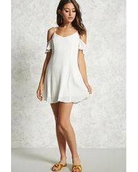 Forever 21 | White Ruffle Cami Shift Dress | Lyst
