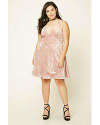 46165ef940 Lyst - Forever 21 Plus Size Crushed Velvet Dress in Pink