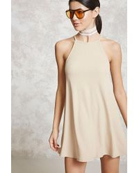 Forever 21   Natural Ribbed Knit Cami Dress   Lyst