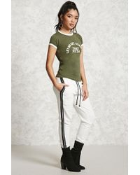 Forever 21 - Green Pizza Graphic Ringer Tee - Lyst