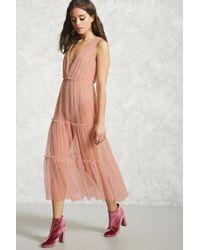 Forever 21 | Purple Sheer Overlay Dress | Lyst