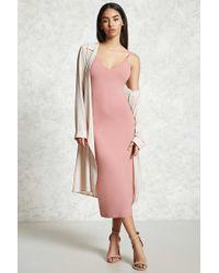 Forever 21 | Pink Side Slit Cami Dress | Lyst