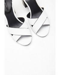 Forever 21 | White Ankle Strap Crisscross Sandals | Lyst