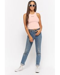 Forever 21 - Pink Honey Graphic Tank Top - Lyst