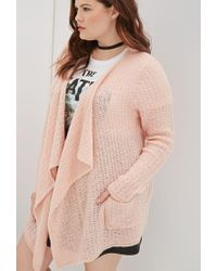 Forever 21 | Pink Plus Size Oversized Loose-knit Cardigan | Lyst
