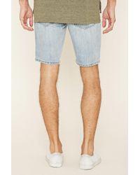 Forever 21 - Green Paint-spattered Denim Shorts for Men - Lyst