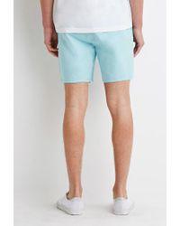 Forever 21 - Blue Drawstring Chino Shorts for Men - Lyst