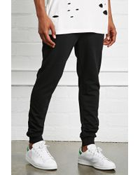 Forever 21 Gray 's Drawstring Heathered Jogger Pants for men