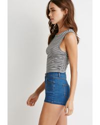 Forever 21 - Gray Striped Top - Lyst