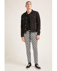 Forever 21 - Black Checker Print Skinny Jeans for Men - Lyst
