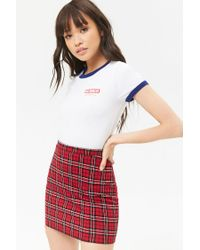 Forever 21 - Red Tartan Plaid Mini Skirt - Lyst