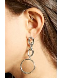 Forever 21 Metallic Drop Chain Earrings