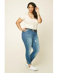 Forever 21 - Natural Plus Size Self-tie Tee - Lyst