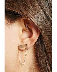 Forever 21 - Metallic Draped Chain Drop Earrings - Lyst