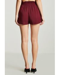 Forever 21 Multicolor Paperbag-waist Shorts