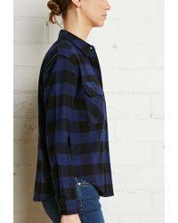 Forever 21 - Blue Buffalo Plaid Flannel Shirt - Lyst