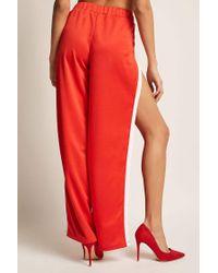 Forever 21 - Red Stripe Tulip-hem Pants - Lyst