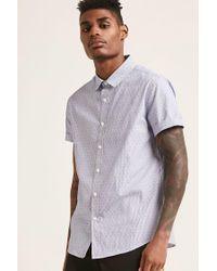 Forever 21 - Blue 's Pinstripe Geo Shirt for Men - Lyst