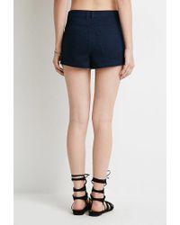 Forever 21 | Blue Clean Wash Denim Shorts | Lyst