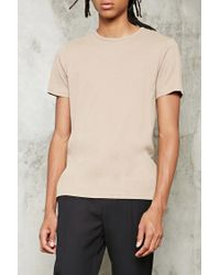 Forever 21 - Multicolor Ribbed Knit Tee for Men - Lyst