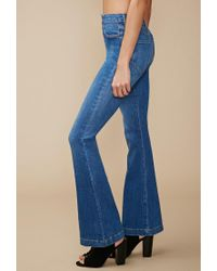 Forever 21 Blue High-waisted Flare Jeans