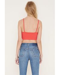 Forever 21 - Multicolor Cotton-blend Cropped Cami - Lyst