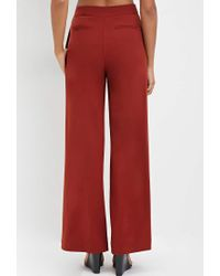 Forever 21 - Brown Sailor-buttoned Wide-leg Trousers - Lyst