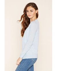 Forever 21 | Blue Classic V-neck Cardigan | Lyst