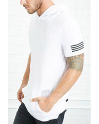 Forever 21 - White Colorblocked Hooded Tee for Men - Lyst