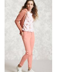 Forever 21 - Pink Skinny Ankle Jeans - Lyst