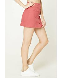 Forever 21 - Pink Button-front Denim Skirt - Lyst