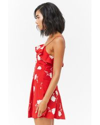Forever 21 - Red Floral Flounce Cami Dress - Lyst