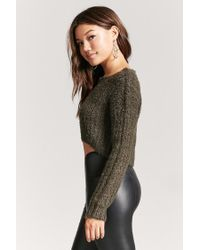 Forever 21 - Green Women's Fuzzy Boucle Knit Jumper Sweater - Lyst