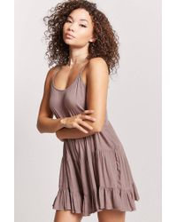 Forever 21 Purple Tiered-seam Cami Dress